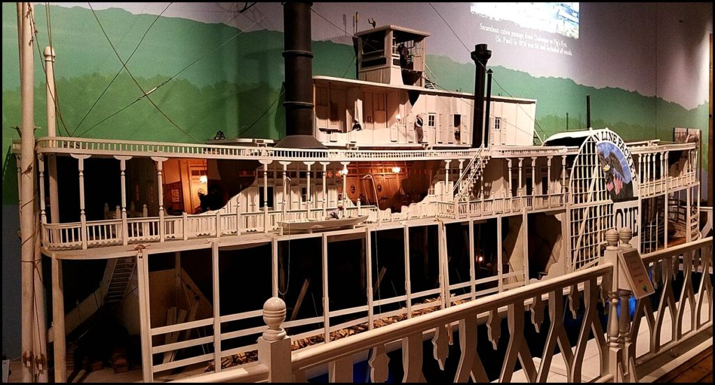 riverboat replica in museum