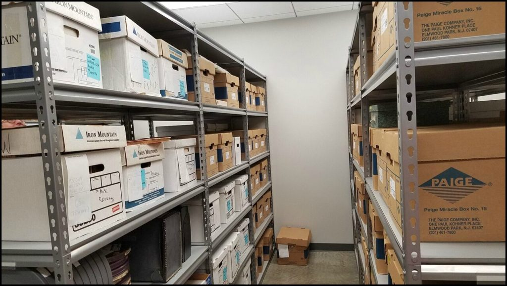 boxes of Meredith Willson items