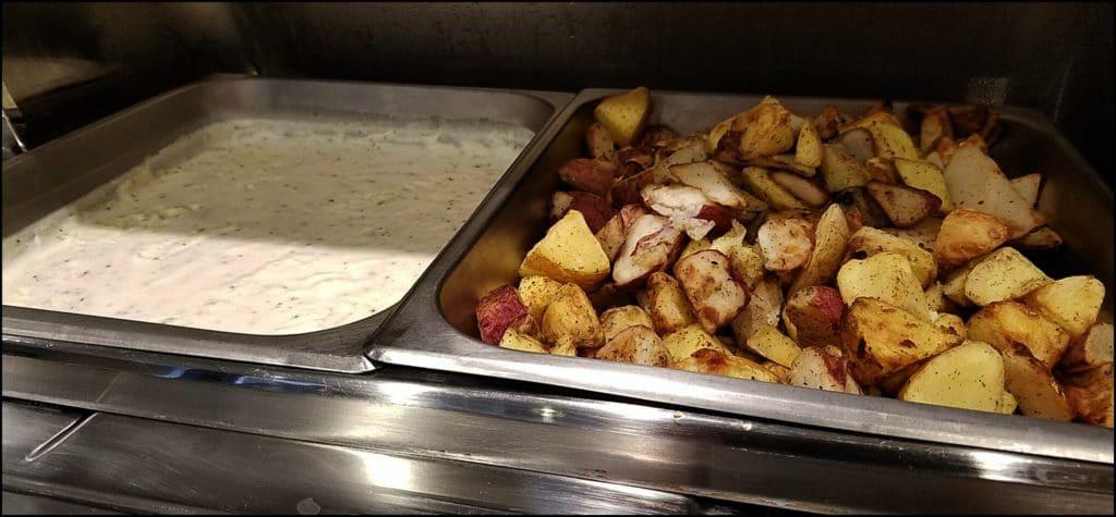 hot breakfast at Hampton Inn