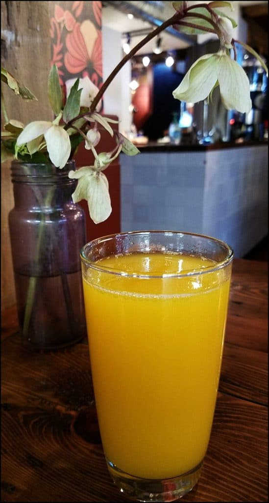 orange juice at Clementine