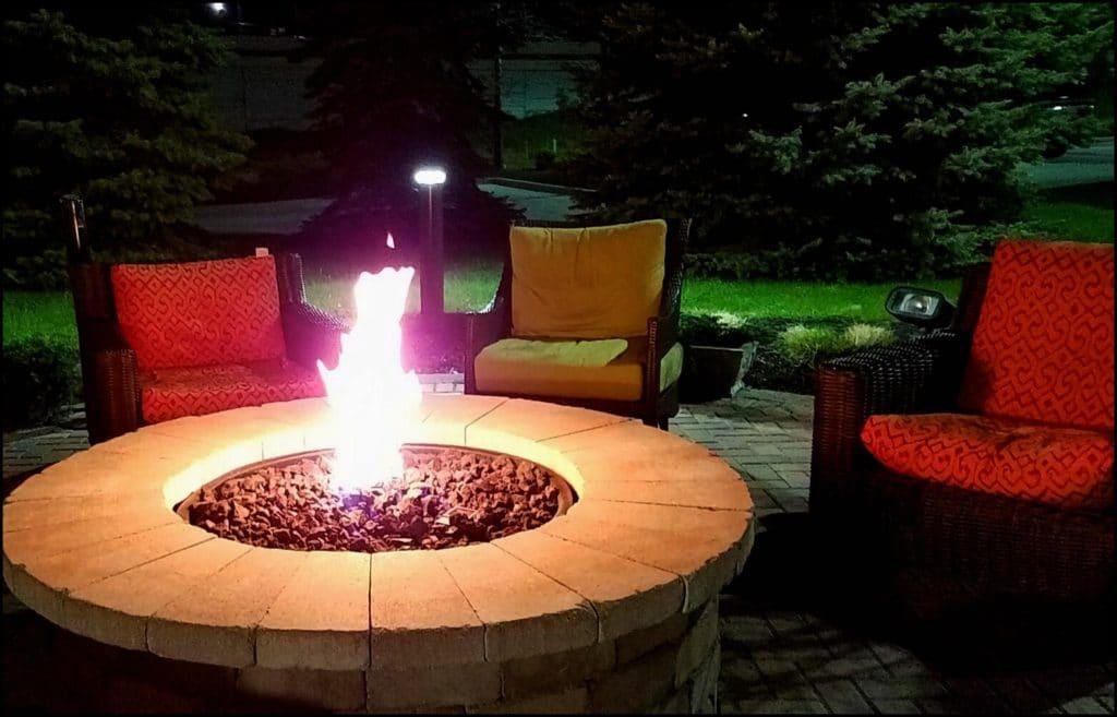 Fire pit at Hilton Garden Inn