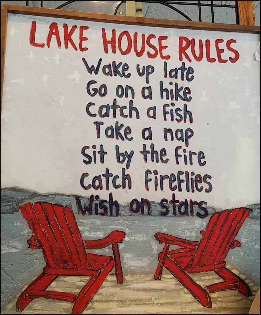 Lake House Rules