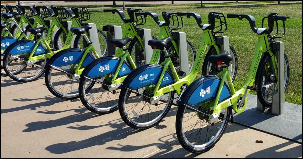 bicycles near Como Park