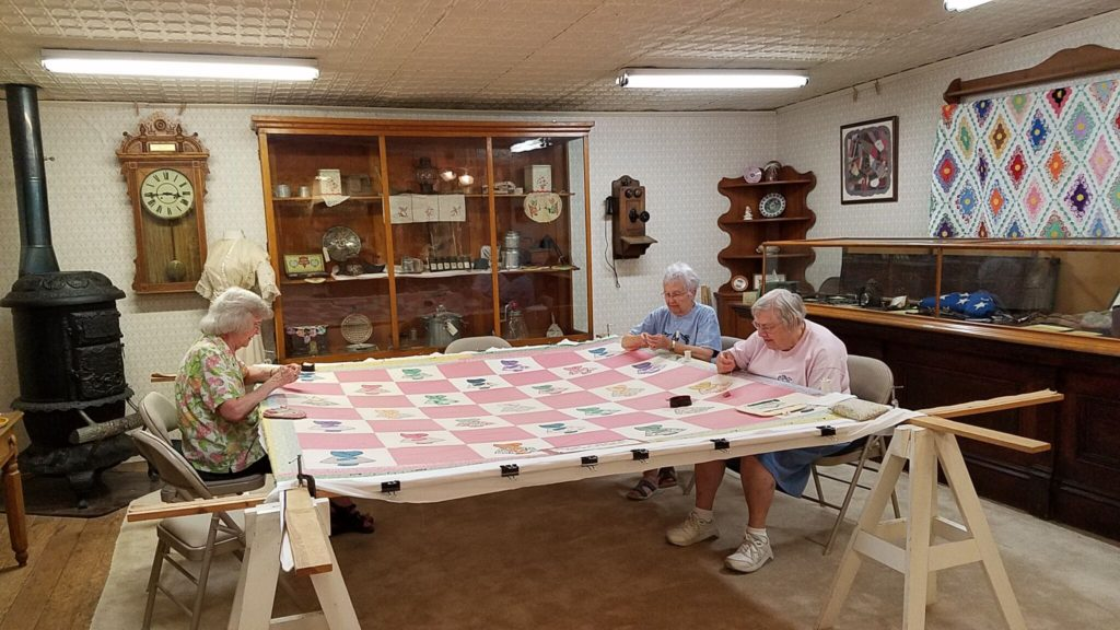 ladies quilting Abilene Kansas