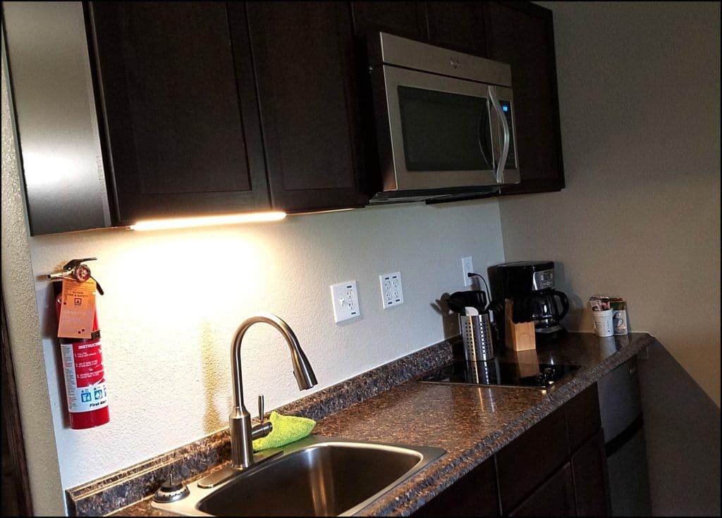 Kitchen at Baymont Suites