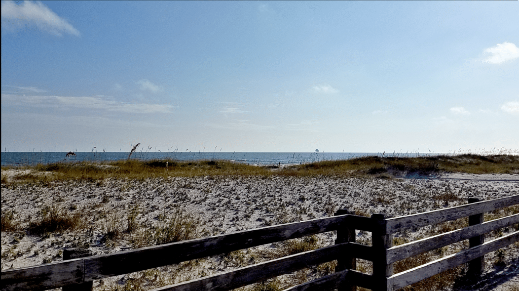 Protective Dunes Alabama Coastline