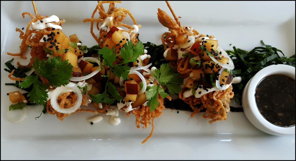 Shrimp kabobs Buccanos