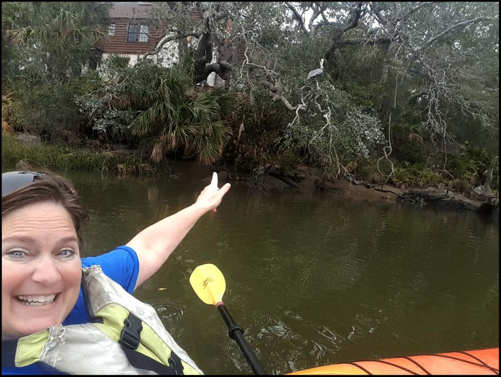 Sara kayaking Jacksonville