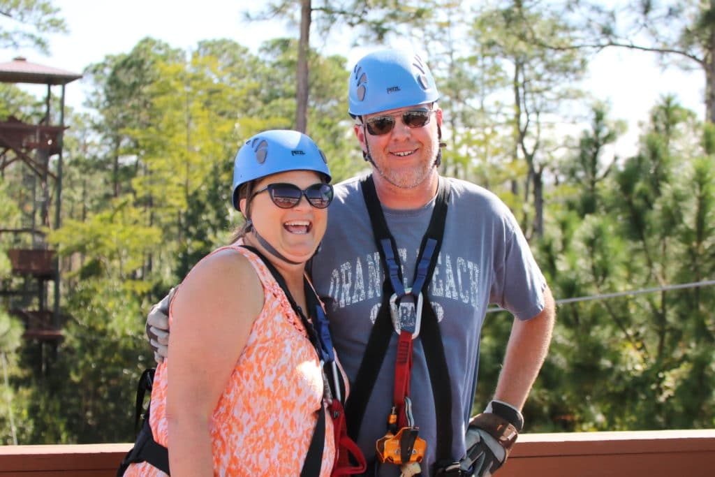 Ziplining Alabama