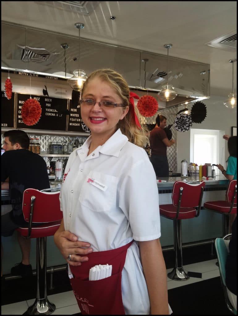 waitress at Sunliner