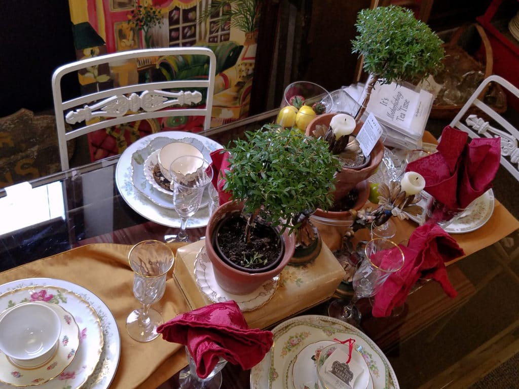 table setting Cedar Street Market Antiques