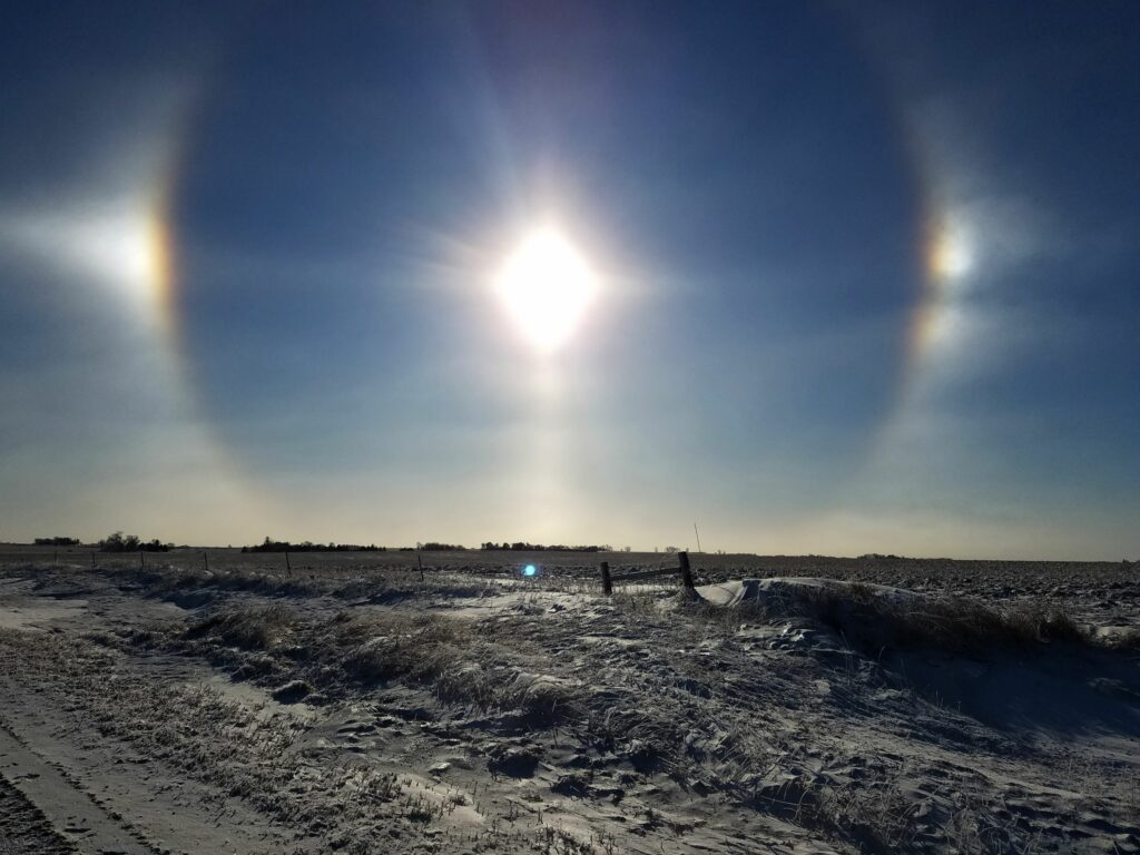Iowa Sundogs Winter Day