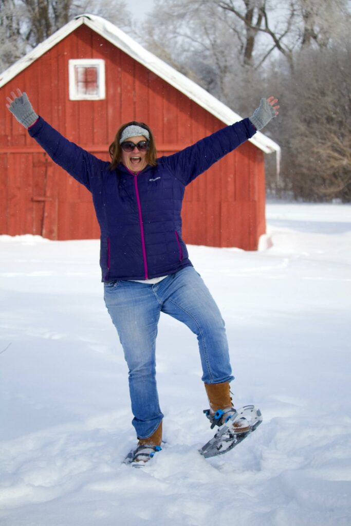 snow shoeing in Iowa