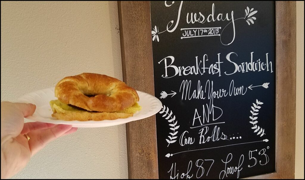 Breakfast Sandwich Watford City Roosevelt Inn