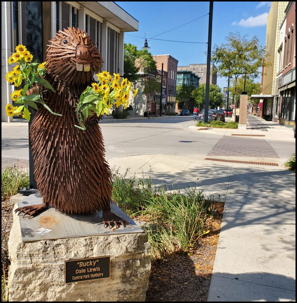 Bucky- Mason City Iowa Sculpture
