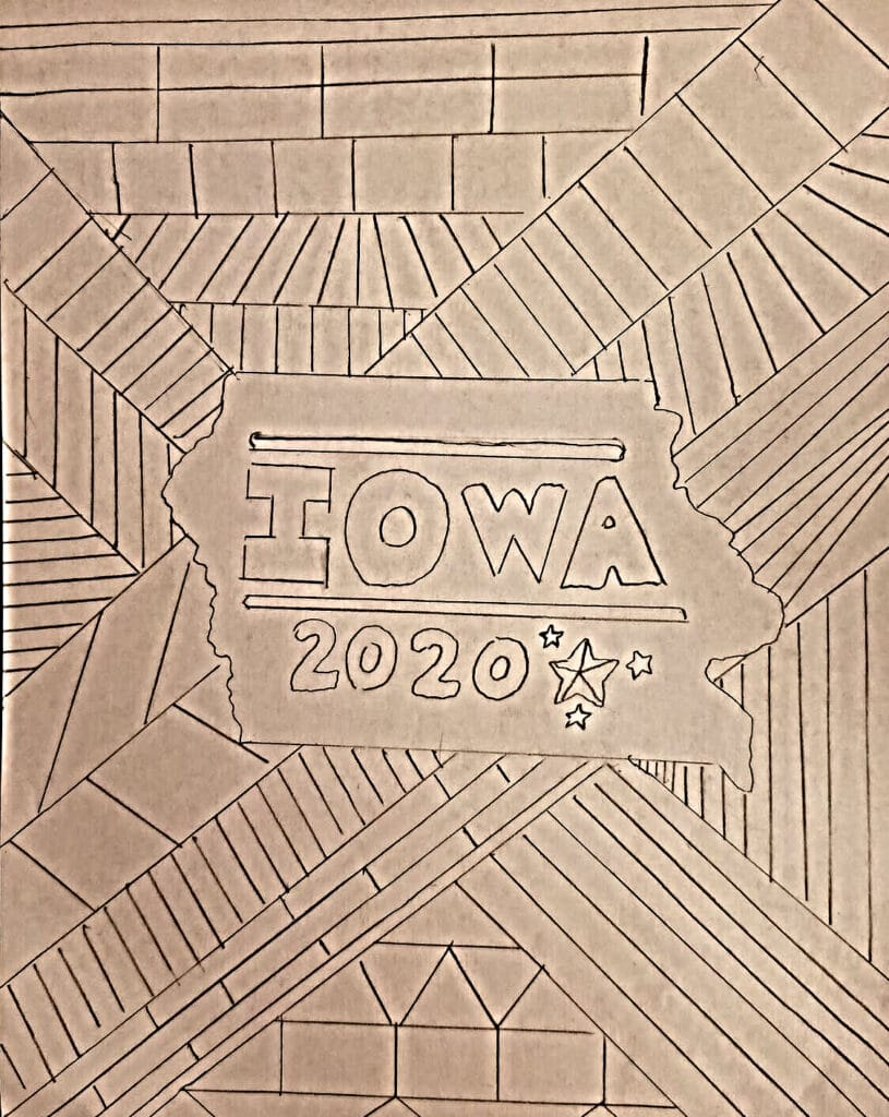 Iowa Coloring Page