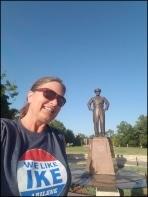 Dwight D Eisenhower statue Abilene