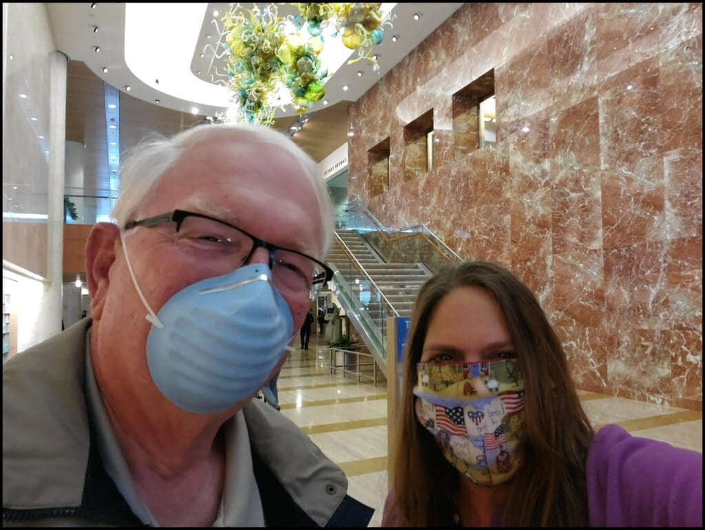 wearing masks at Mayo clinic