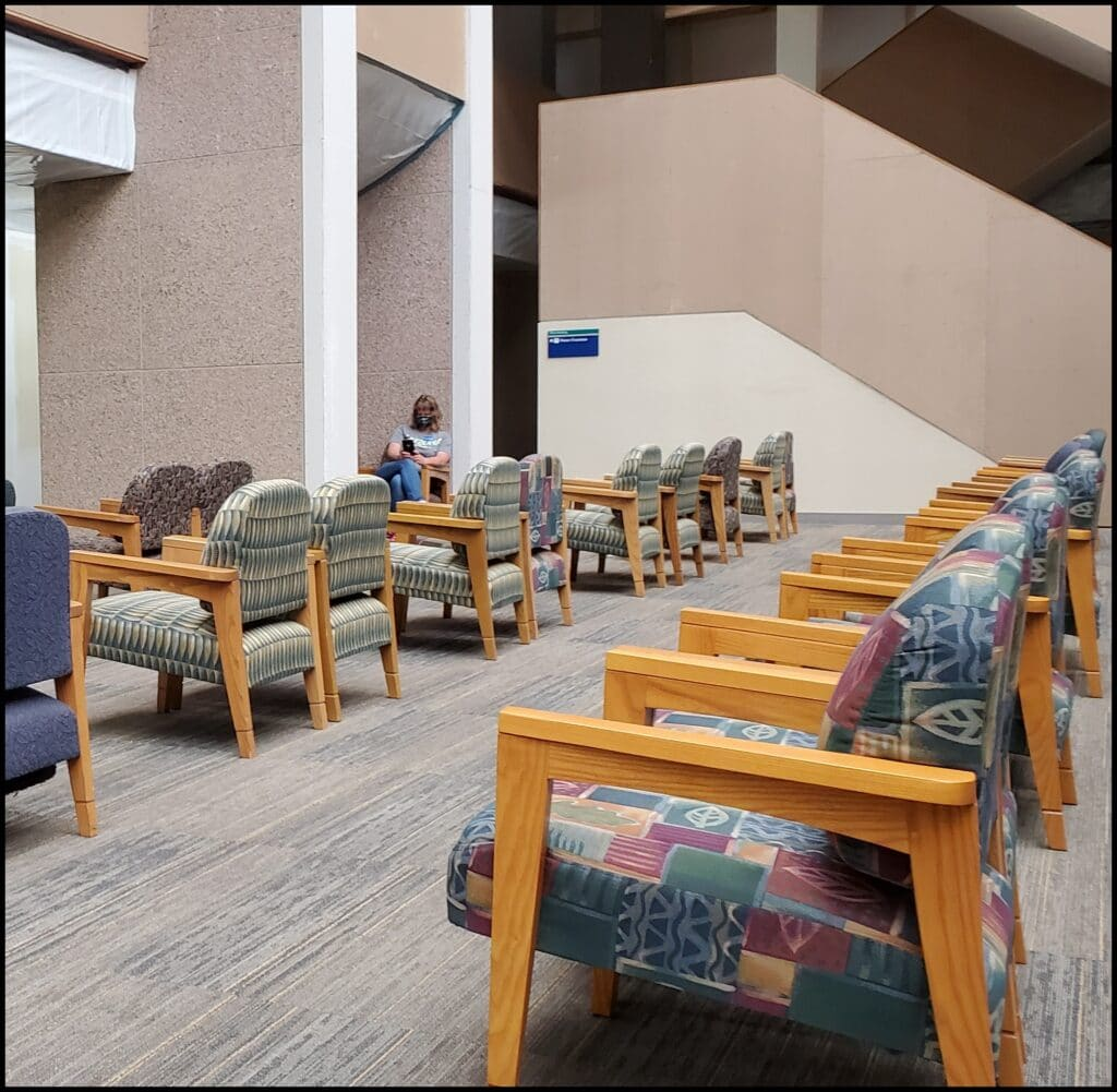 chairs spacing out at Mayo Clinic