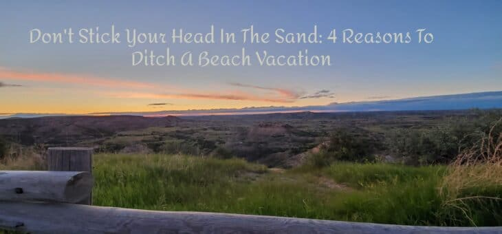 Don't Stick Your Head In The Sand: 4 Reasons To Ditch A Beach Vacation