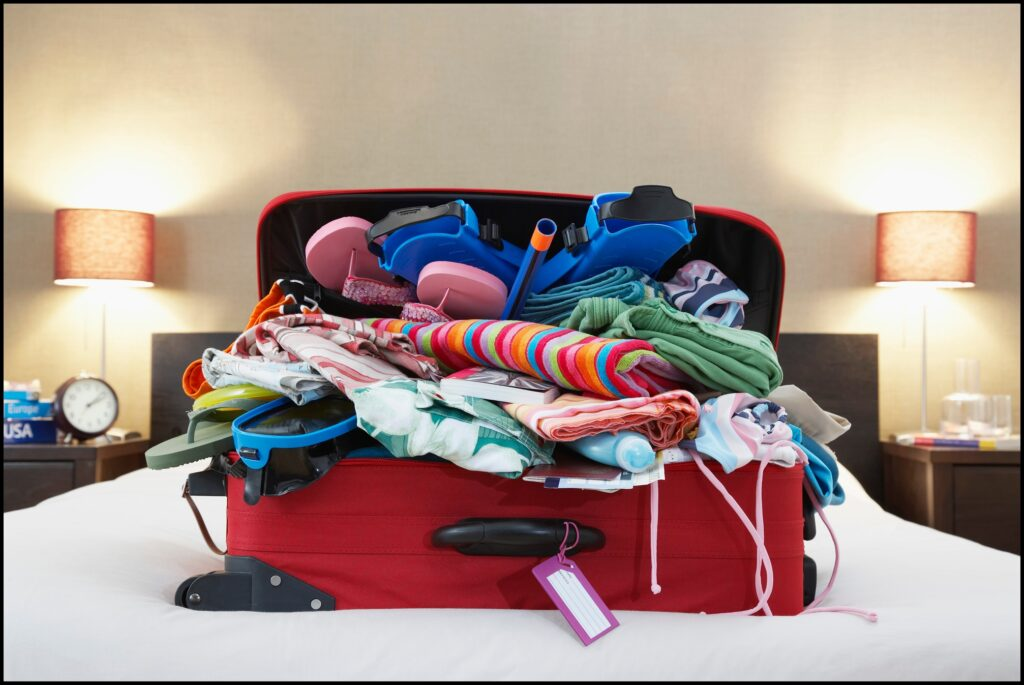 overpacked suitcase avoid by traveling with one bag that is organized