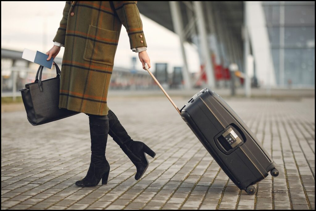 woman with luggage fuss-free travel